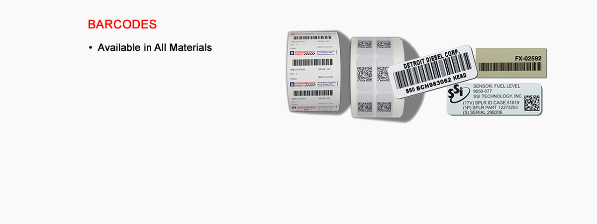 Barcodes / Data Matrix / Serialized